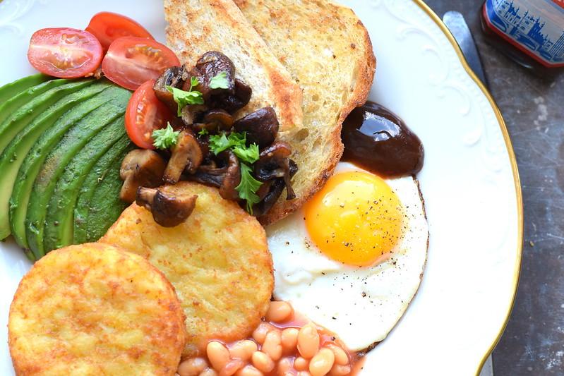 Vegetarisk English breakfast
