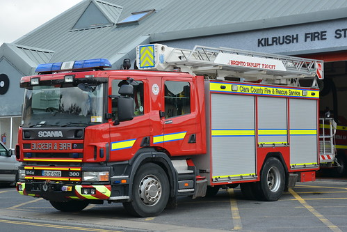 Clare County Fire Service 2003 Scania 94G 300 Angloco Bronto F20CFT ARP 03CE5359 (Ex Grampian SV52 UOH)