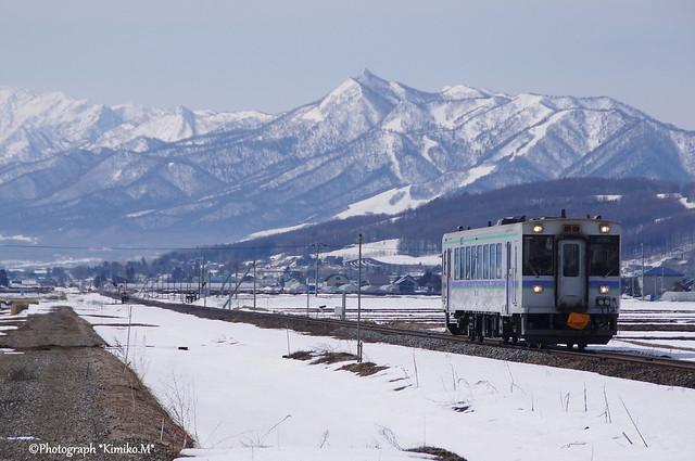 芦別岳と富良野線