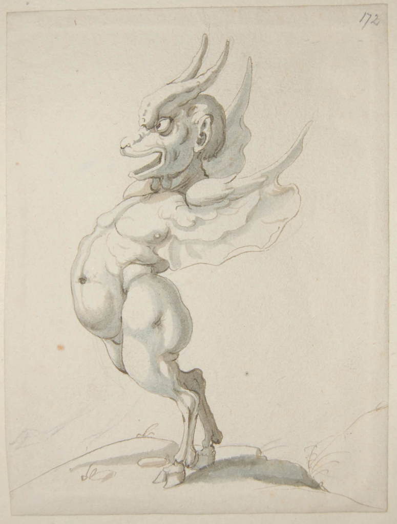 Arent van Bolten - Monster 172, from collection of 425 drawings, 1588-1633