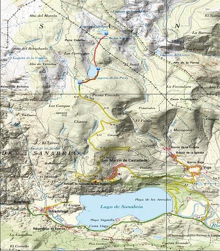 Plano Parque Natural Lago de Sanabria (IGNE)