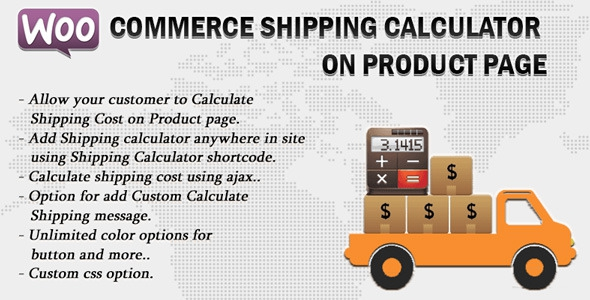Woocommerce Shipping Calculator On Product Page v1.6