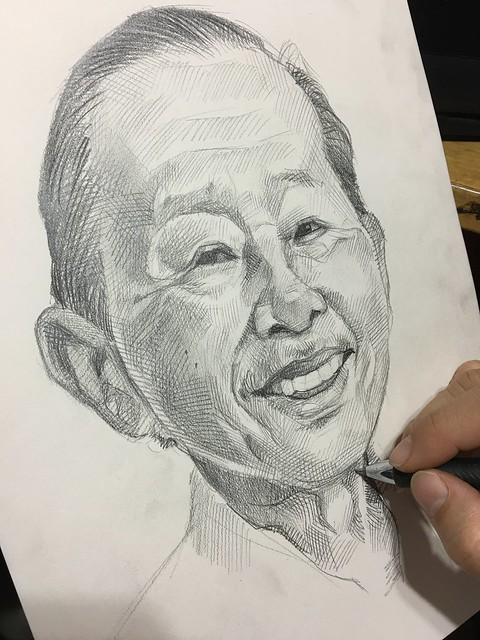 Portrait in pencil.....