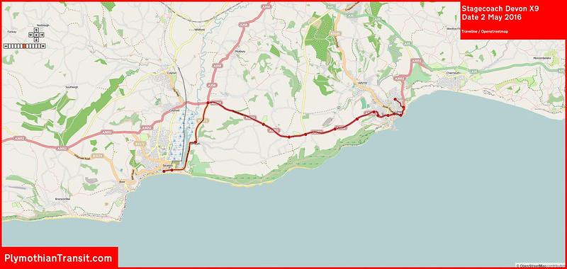Stagecoach Devon Route-X  9