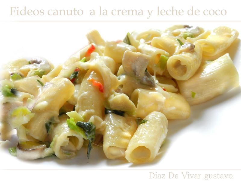 Fideos Canuto a la crema y leche de coco - Diaz De Vivar Gustavo