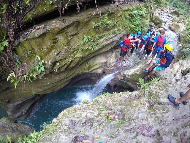 First Jump at Canyoneering Kawasan Badian