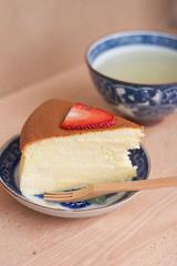 cheesecake giapponese al bergamotto