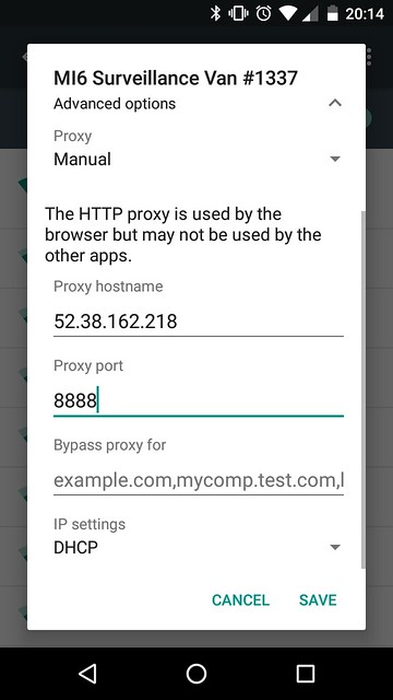 android-proxy-settings