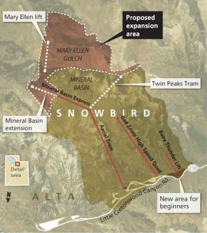 Snowbird Expansion Map