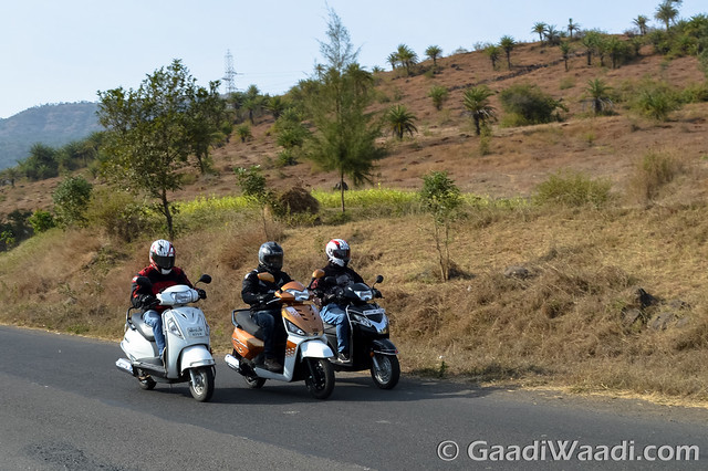 Mahindra Gusto125 vs Activa125 vs Suzuki access 125 -16