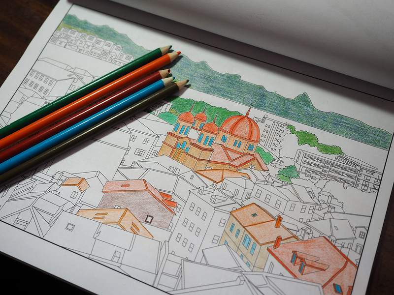 Travel Between the Lines coloring book
