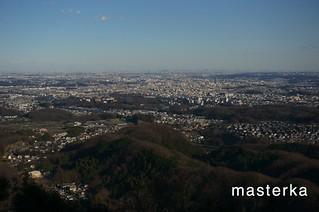 八王子城本丸からの眺め