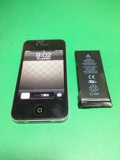 32_iPhone4Sのバッテリー交換