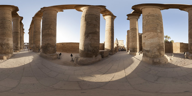 Colonnade Hall at Luxor Temple 360