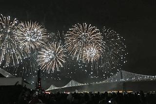 Super Bowl City - Fireworks Display