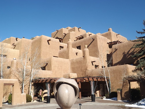 Classic Adobe Architecture, Inn at Loretto, Santa Fe, New Mexico