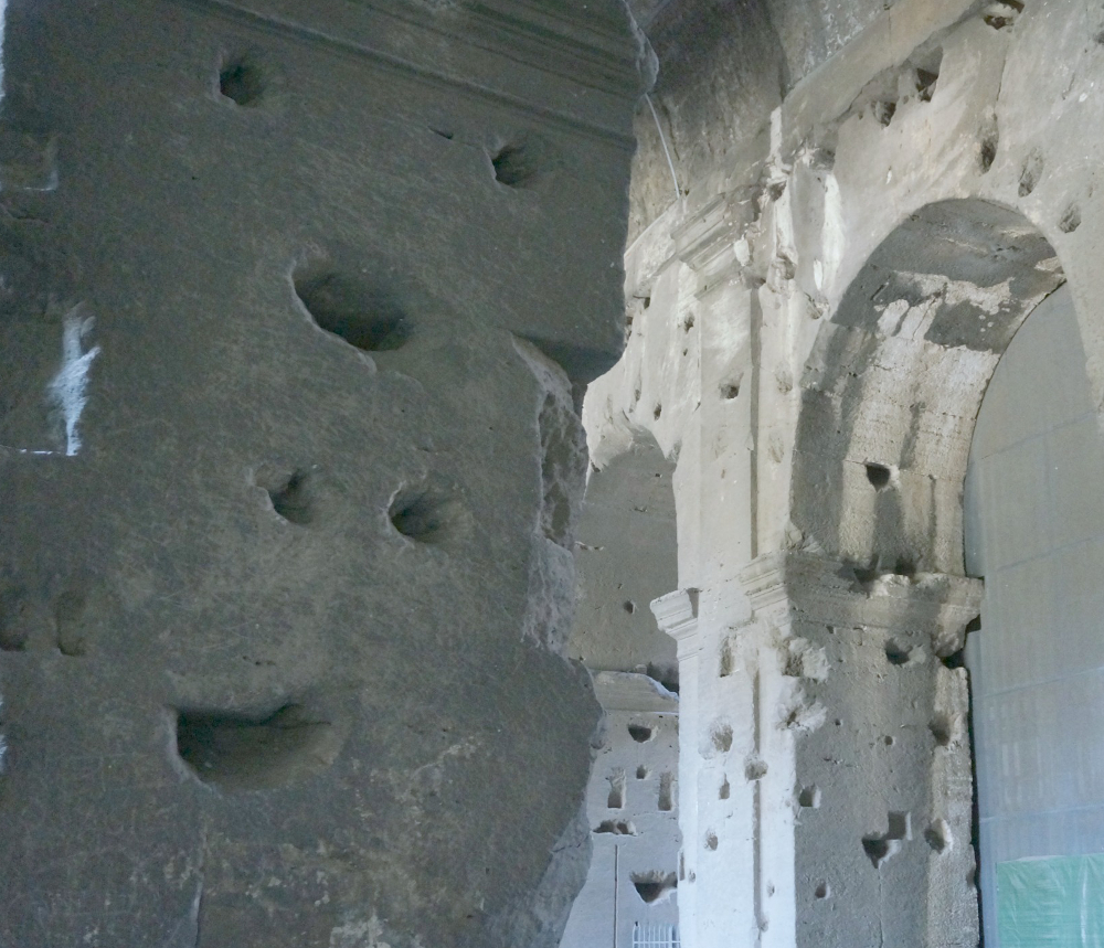 holes in the Colosseum