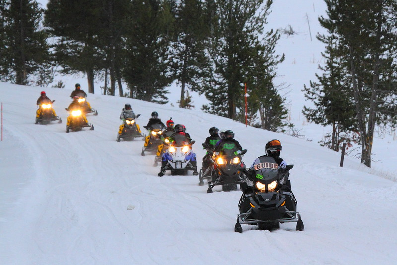 IMG_3519 Snowmobiles, Yellowstone National Park