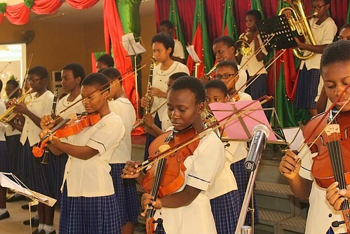 The orchestra of Louisville Girls Secondary School Abuja