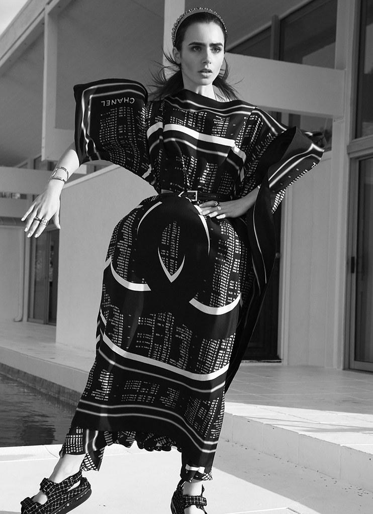 Лили Коллинз — Фотосессия для «Harper's Bazaar» AU 2016 – 7