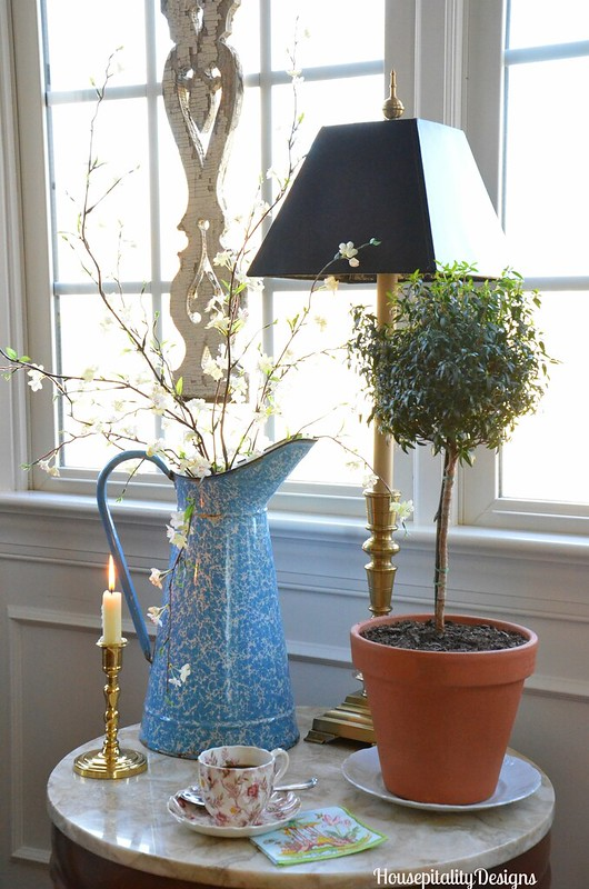 French Pitcher/Myrtle Topiary - Housepitality Designs