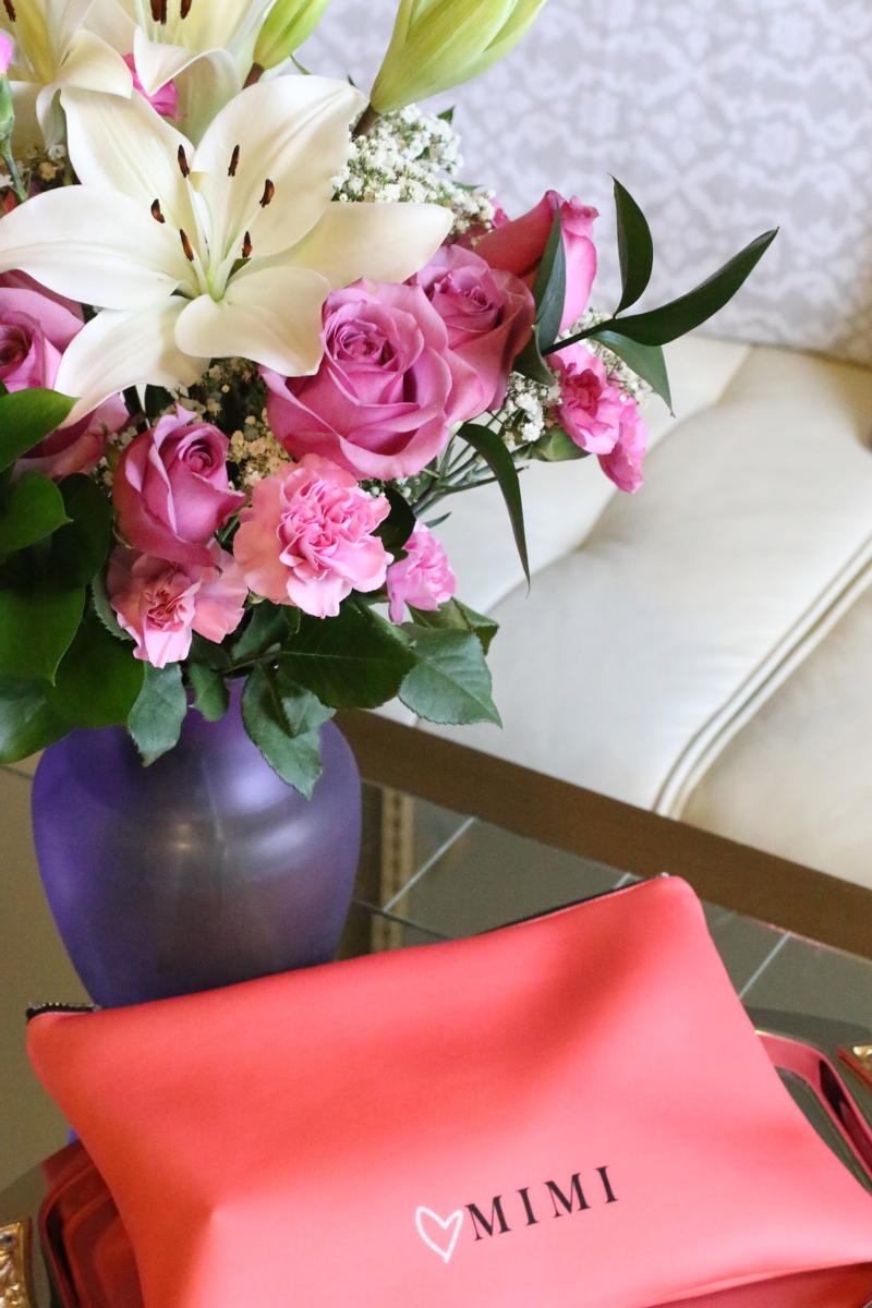 mimi beauty bag, flowers