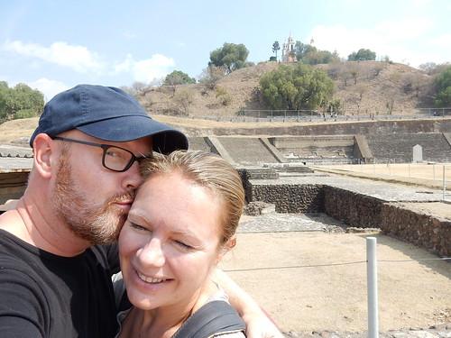 Cholula - bij piramide