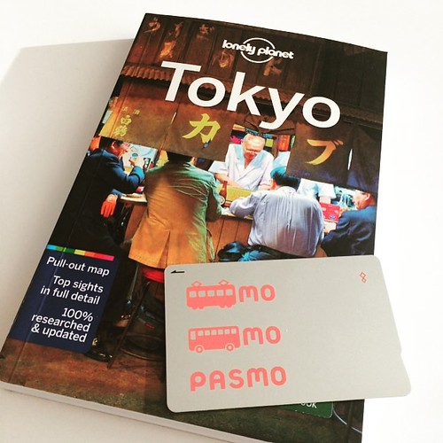 Got my travel book and my Tokyo metro card (courtesy of my lovely co-worker). All set to jet off to Japan next week with @mcadigan12