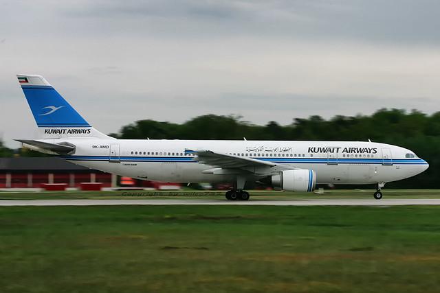 Kuwait Airways Airbus 300-600 departing FRA (9K-AMD)