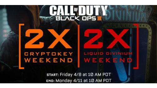 CoD : Black Ops III double XP Weekend