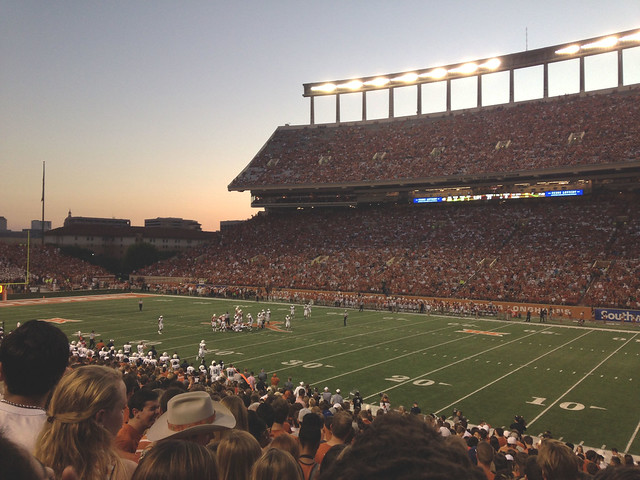 The UT 'Longhorns' football stadium