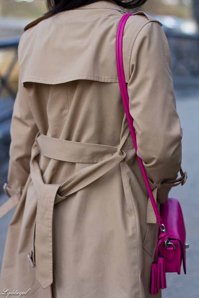 green equipment blouse, london fog trench, pink coach bag-5.jpg