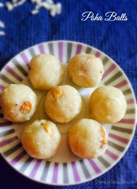 Poha Balls Recipe for Babies, Toddlers and Kids2