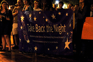 "What a feminist looks like: Students march to ""take back the night"""
