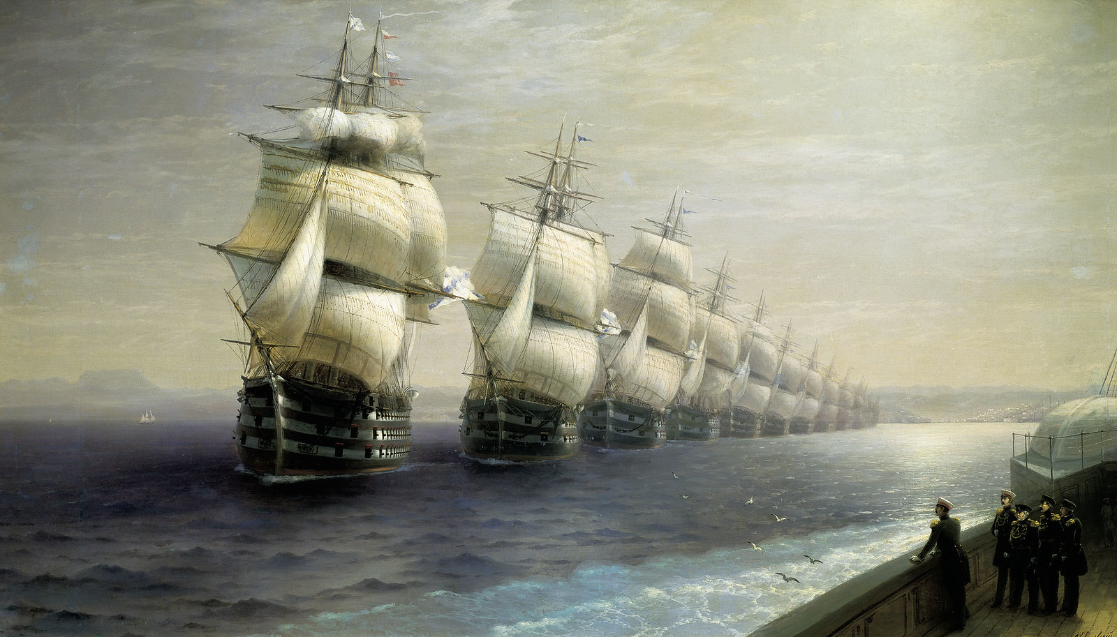 Parade of the Black Sea Fleet by Ivan Aivazovsky, 1849