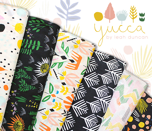 Cloud9 Fabrics Yucca Voile Collection by Leah Duncan