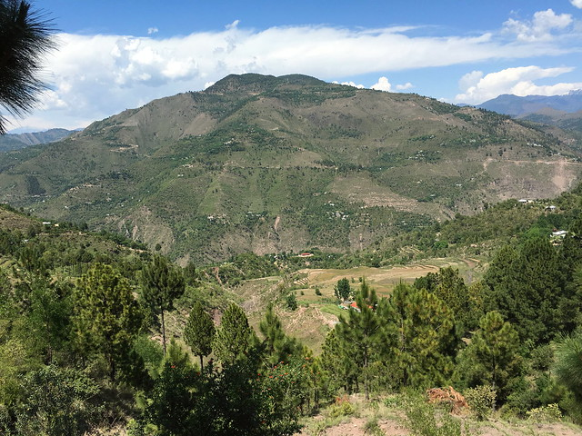 View across Aghar Nulluh River valley, Kashmir