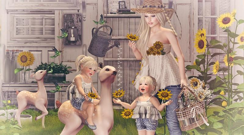 Amelie et les petites: Sunflowers
