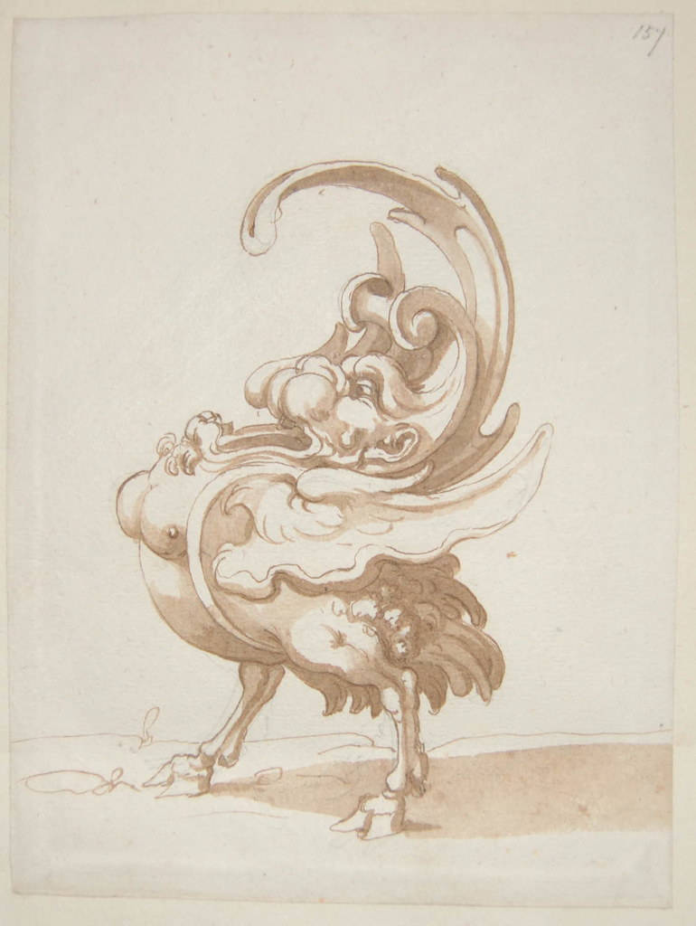 Arent van Bolten - Monster 157, from collection of 425 drawings, 1588-1633