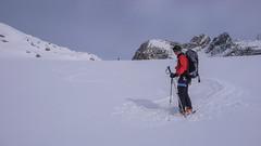 Zjazd lodoowcem Verdetta di Fellaria z przełęczy Passo Marinelli Orientale - Piotr.