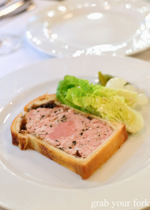 Grandpa Henri's baked pork terrine at Bistrot Gavroche in Chippendale