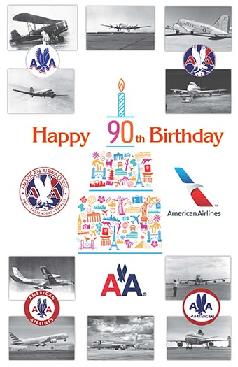 American Airlines 90 años poster (American Airlines)