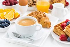 sweet breakfast and espresso