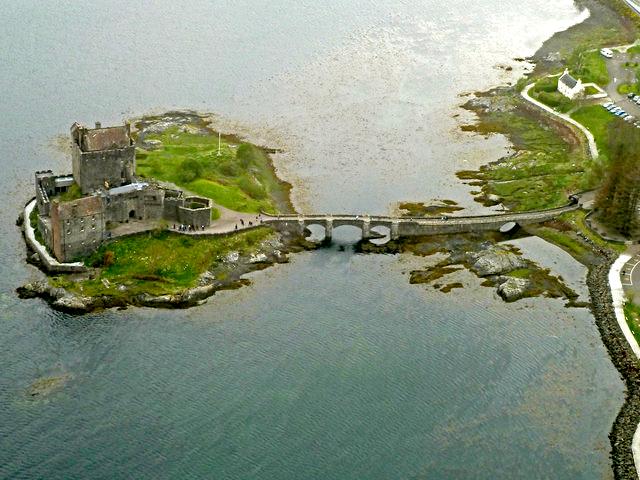 Aerial view of Eilean Donan