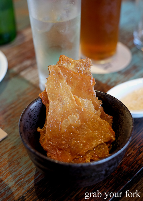 Chicken skin crackers at Yang and Co Castlecrag