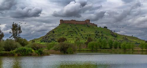 castle río river landscape paisaje medellin castillo guadiana 4k extremadura hrd