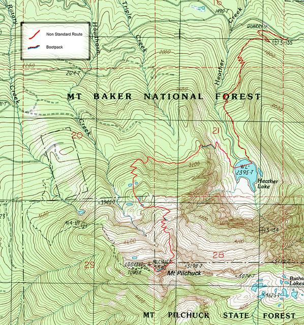 Pilchuck TOPO - non standard route