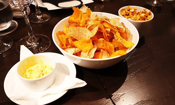 02 Disgruntled Chef - Appetizer Vegetable Chips Spicy Popcorn and Dip