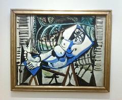 vrouwelijk naakt in tuin - Picasso 1956