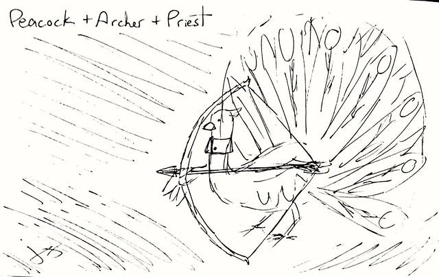 Peacock + Archer +Priest